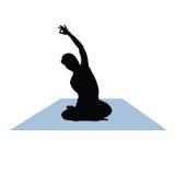 Yogakvinnavektor Arkivfoto