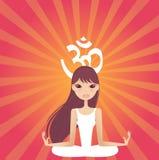 Yogaleistung Stockfoto