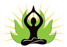 Yogalogo stock illustrationer