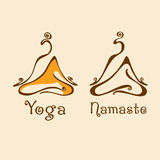 Yogalogo Arkivbilder