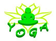 Yogalogo Lizenzfreies Stockfoto