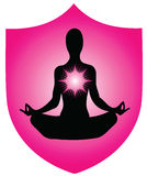 Yogalogo Lizenzfreie Stockbilder