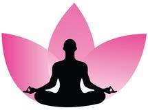 Yogalogo Arkivfoton