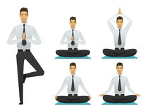 Yogamann wirft Illustration auf stock abbildung
