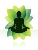 Yogameditatie Stock Foto