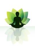 Yogameditatie Stock Foto's