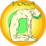 Yogameditatie: Asana Stock Afbeelding