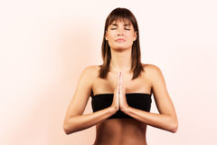 Yogameditation stockbild