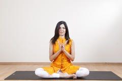 Yogameditation Stockfoto