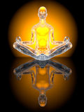 Yogameditationen poserar Arkivfoto