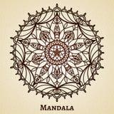 Yogameditations-Mandalaverzierung Lizenzfreie Stockbilder