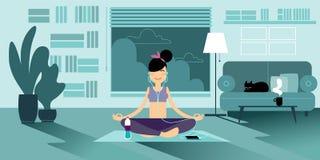 Yogameisjes royalty-vrije illustratie