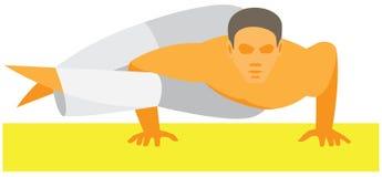 Yogamens stel 8 bogen royalty-vrije illustratie