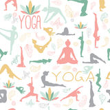 Yogamodell royaltyfri illustrationer