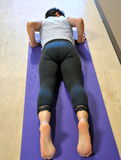 Yogaoefening Stock Foto