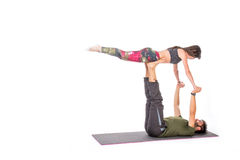 Yogapar Royaltyfri Fotografi