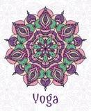 Yogarundschreibenmandala Lizenzfreies Stockfoto
