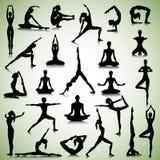 Yogasatz Leute Lizenzfreies Stockbild
