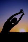 Yogaschatten Lizenzfreie Stockfotografie