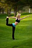 Yogaschwerpunkt im Park Lizenzfreies Stockbild