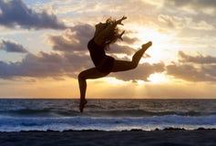 Yogasilhouet Royalty-vrije Stock Fotografie