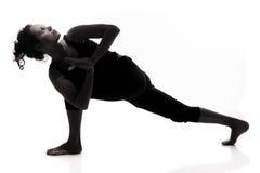 Yogasilhouette Arkivbilder