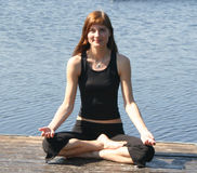 Yogastellung Lizenzfreies Stockfoto