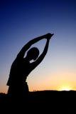 Yogastellung Lizenzfreie Stockfotografie