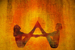 Yogasymbol royaltyfria foton