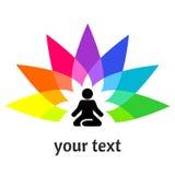 Yogasymbol för logotyp Arkivbilder