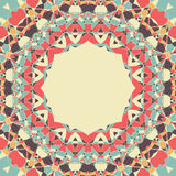 Yogasymbol runde Mandala mit Platz für Text Lizenzfreies Stockfoto