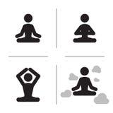 Yogasymboler Royaltyfri Foto