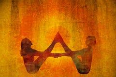 Yogasymbool royalty-vrije stock foto's