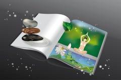 Yogatidskrift royaltyfri illustrationer