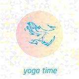 Yogatijd met achtergrond Stock Fotografie