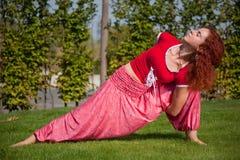 Yogatrainieren Stockfotos