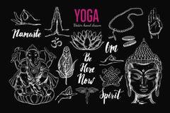 Yogauppsättning vektor Royaltyfri Foto