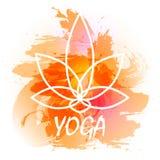 Yogavektorillustration Fotografering för Bildbyråer