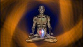 Yogaverlichting met aura royalty-vrije illustratie