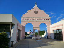 Yogaville. The Satchidananda Ashram -Yogaville and entrance of the Lotus Conference Center in Buckingham, Virginia Stock Photo