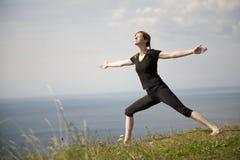 YogaWarrior. Tamanho do XL Foto de Stock