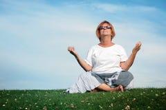 Yogazeit stockbilder