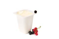 Yoghurt And Berries Stock Photo