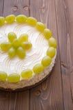 Yoghurt cake with grape Stock Photos