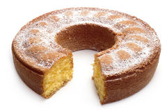 Yoghurt cake with icing sugar Stock Photo