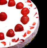 Yoghurt cake with strawberries Stock Photography