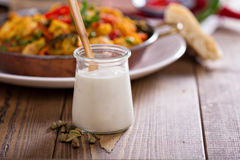 Yoghurt with cardamom Royalty Free Stock Photos