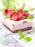 Yoghurt cheesecake Royalty Free Stock Photo