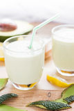 Yoghurt cocktail avocado lemon honey Royalty Free Stock Photo