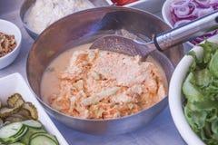 Yoghurt coleslaw Stock Image